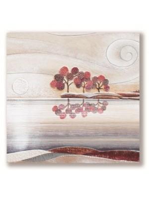 Quadro Posto Tranquillo 60 x 60 Rosso - Cartapietra