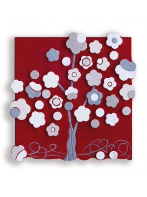 quadretto albero 30cm x 30cm - Cartapietra
