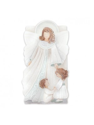 angeli angelo custode dei bimbi 45cm x 25cm - Cartapietra