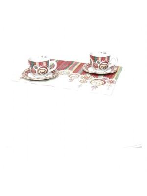 Set 2 Tazze Colazione Con Tovagliette Americane - Thun