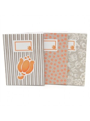 Set 3 Notebook Allover Tulip - Thun