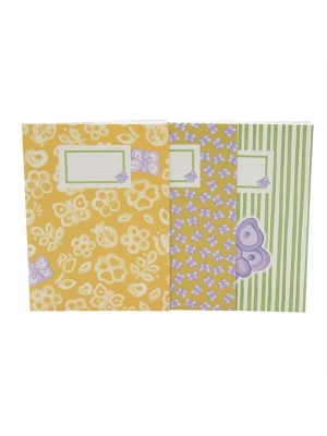 Set 3 Notebook Allover Butterfly - Thun