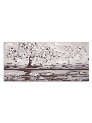quadro foglie al vento 150cm x 70cm - Cartapietra