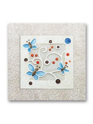 quadretto farfalline 26cm x 26cm - Cartapietra