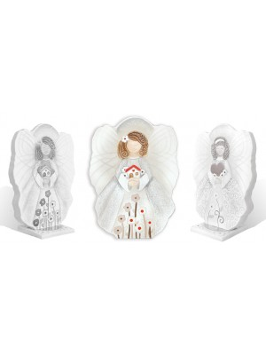 angeli angioletto della casa 25cm x 18cm - Cartapietra