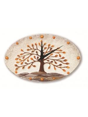 orologio albero della vita 40cm x 25cm - Cartapietra