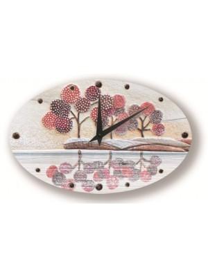 orologio posto tranquillo 40cm x 25cm - Cartapietra