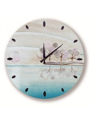 orologio posto tranquillo 50 x 50 acqua - Cartapietra