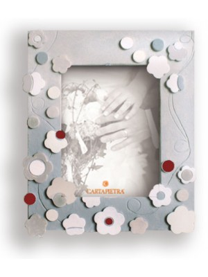 portafoto seta 18cm x 24cm - Cartapietra