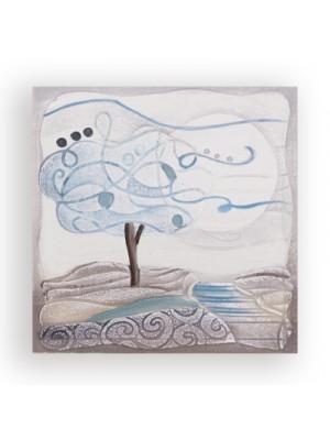 appendichiavi l'albero dei sogni 18cm x 18cm - Cartapietra