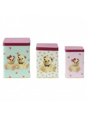 Set 3 scatole in latta Amore - Thun
