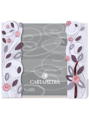 portafoto foglie al vento 13 x 18 rame - Cartapietra