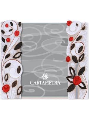 portafoto foglie al vento 13 x 18 rosso - Cartapietra